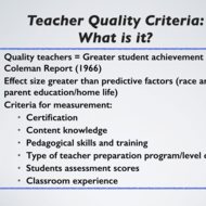 Understanding Teacher Effectiveness and Student Achievement