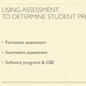 Using Assessment to Determine Student Progress