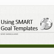 Using SMART Goal Templates