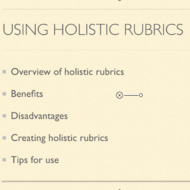Using Holistic Rubrics