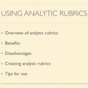 Using Analytic Rubrics
