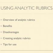 Using Analytic Rubrics