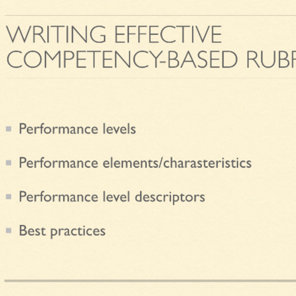 Writing Effective Competency Based Rubrics