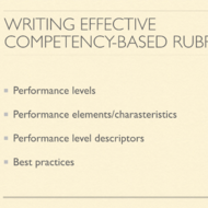 Writing Effective Competency Based Rubrics