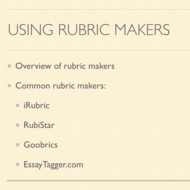 Using Rubric Makers