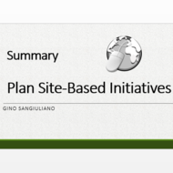 "Summary of ""Plan Site-Based Initiatives"""