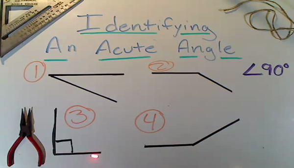 Identifying an Acute Angle