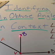 Identifying an Obtuse Angle in Context