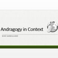 Andragogy in Context
