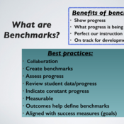 Goals, Outcomes, and Benchmarks