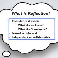 Reflection and Instructional Coaching