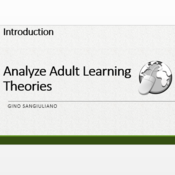 """Introduction to """"Analyze Adult Learning Theory"""""""