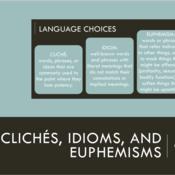 Clichés, Idioms, Euphemisms