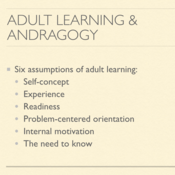 Adult Learning and Andragogy