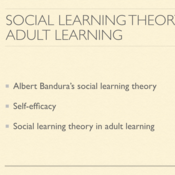 Social Learning Theory and Adult Learning