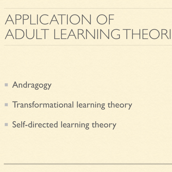 Application of Theories