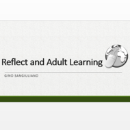 Reflection and Adult Learning