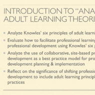 "Introduction to ""Analyze Adult Learning Theory"""