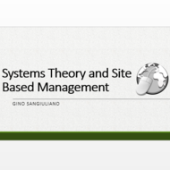 Systems Theory and Site Based Management