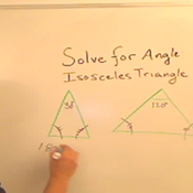 Solve for an Angle of an Isosceles Triangle