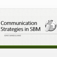 Communication Strategies in SBM