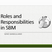 Roles and Responsibilities in SBM