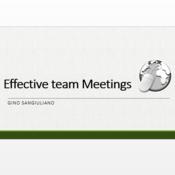 Effective Team Meetings