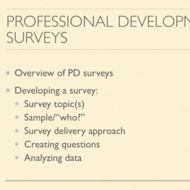 Professional Development Surveys