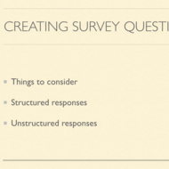 Creating Survey Questions