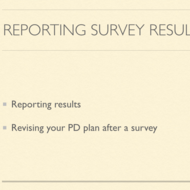 Reporting Your Results