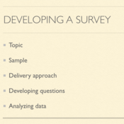Developing a Survey
