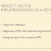 Reflect on the Implementation of a Survey to a PD Plan