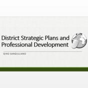 District Strategic Plans and Professional Development