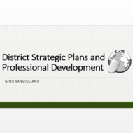 District Strategic Plans and Professional Development