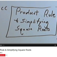Product Rule and Simplifying Square Roots
