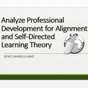 Analyze Professional Development for Alignment To Self-Directed Learning Theory