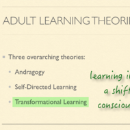 Adult Learning Theory and Teachers as Learners