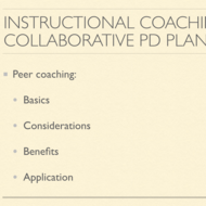 Instructional Coaching and Collaborative Professional Development Plans