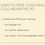 Building Peer-to-Peer Coaching Relationships in Collaborative Professional Development