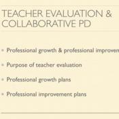 Teacher Evaluation and Collaborative Professional Development
