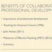 Benefits of Collaborative Professional Development