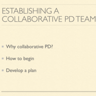 Establishing a Collaborative Professional Development Team