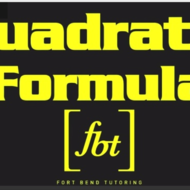 Solving Quadratic Equations: Quadratic Formula