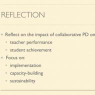 Professional Development Plans, Teacher Performance and Student Achievement