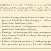 """Introduction to """"Create a Collaborative Professional Development Plan that Includes Coaching and Ev"""
