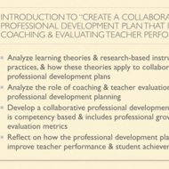 "Introduction to ""Create a Collaborative Professional Development Plan that Includes Coaching and Ev"