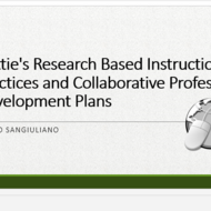 Hattie's Research Based Instructional Practices and Collaborative Professional Development Plans