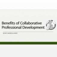 Benefits of Collaborative Professional Development