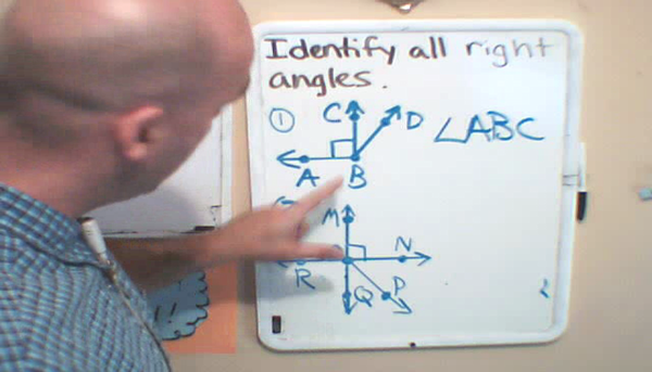 Identifying a Right Angle in Context