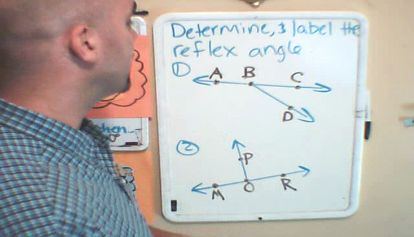 Identifying a Reflex Angle in Context